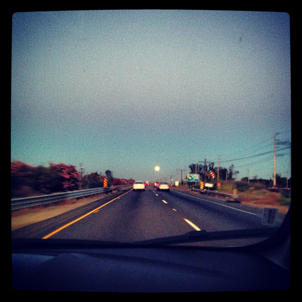 Full moon straight ahead