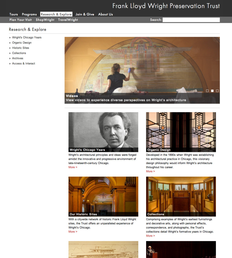 Frank Lloyd Wright Design Philosophy frank lloyd wright trust website | tina shah